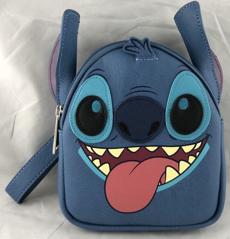 Disney Parks Stitch Face Loungefly Wristlet Bag - NEW
