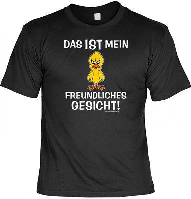 Freund Lustige T-shirt (Fun T-Shirt - Das ist mein freundliches Gesicht - lustiges Geschenk mit Humor)