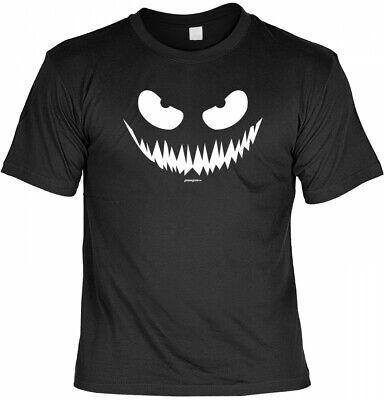 Böses Grinsen - gruseliges Sprüche Shirt für Halloween (Halloween Sprüche)