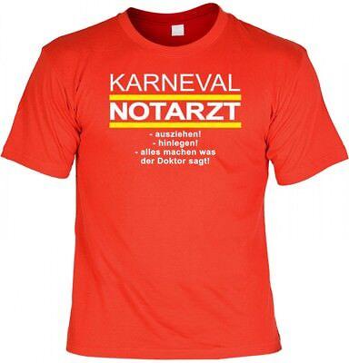 Lustiges T-Shirt Verkleidung - Karneval Notarzt - witziges Fasching Kostüm Fun