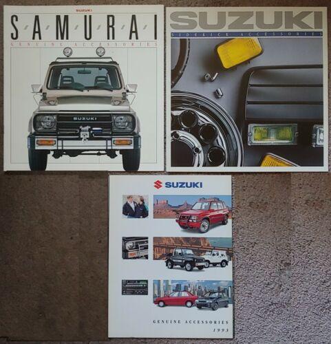 SET of 3 SUZUKI Accessories Brochure Catalogs 1988 1989 1993 SAMURAI SIDEKICK