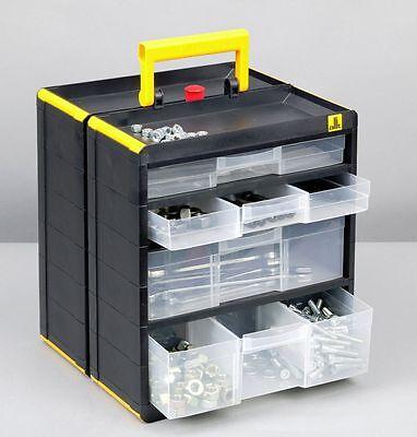 Doppel Kleinteilemagazin Sortimentskasten Werkzeug Kiste Organizer Allit 463100