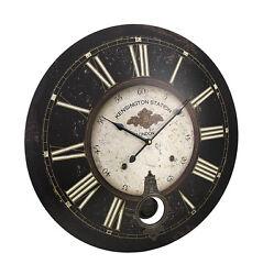 23 Inch Diameter Kensington Station Pendulum Wall Clock