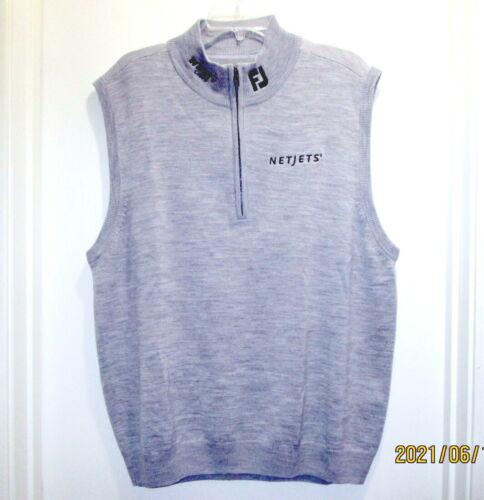 NWOT FOOTJOY Netjets Winn Grips Vest 1/2 Zip Size XL