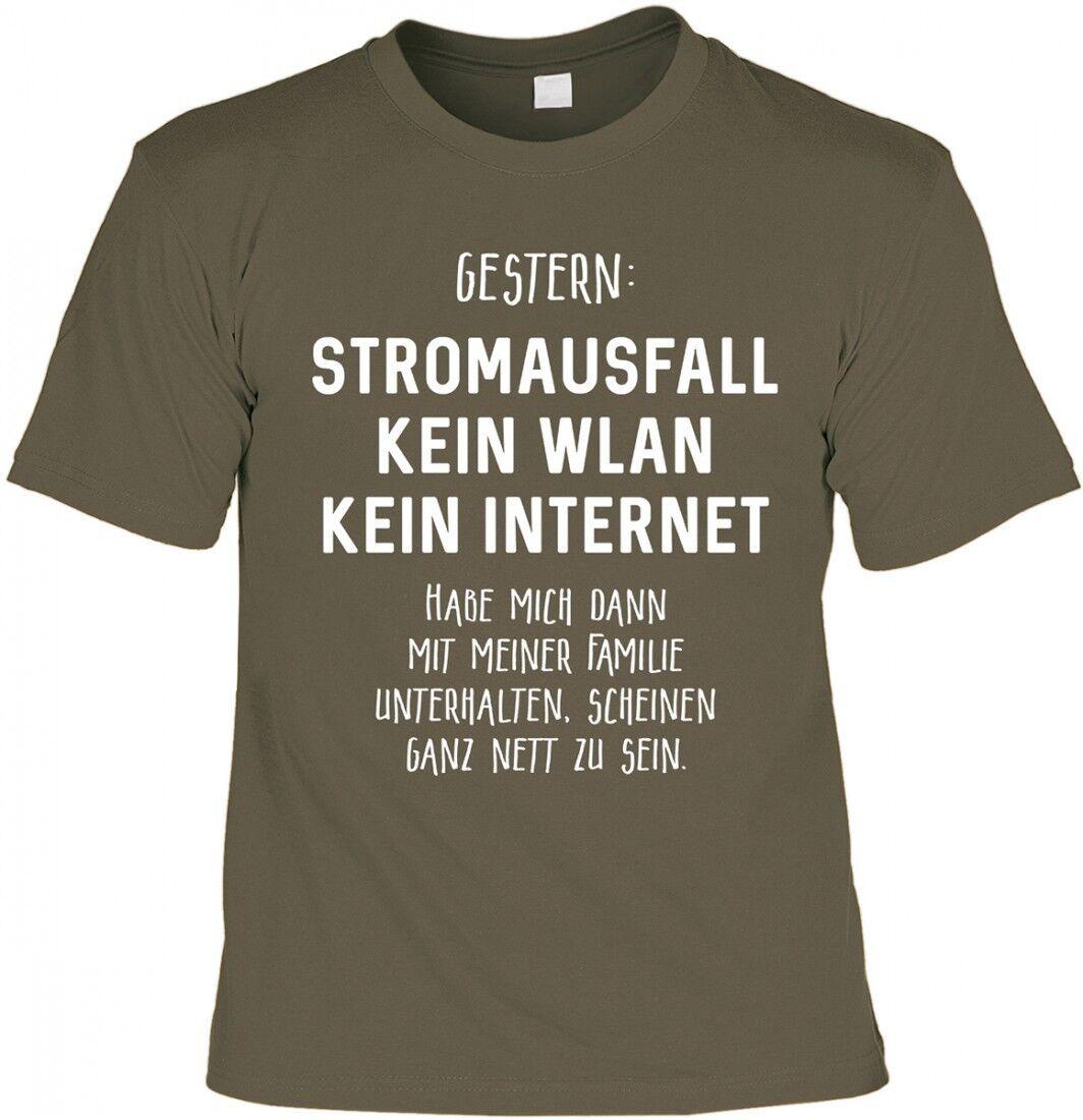 Funshirt - Stromausfall Familie scheint nett zu sein - T-Shirt Urkunde Geschenk