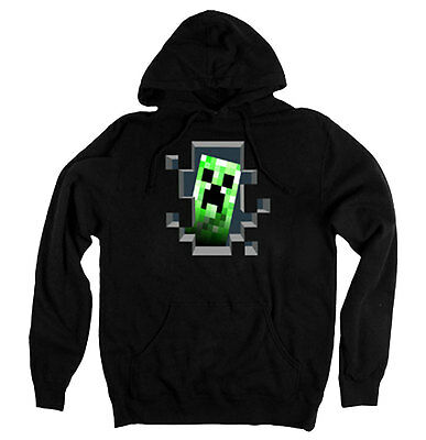 Minecraft Creeper Inside Adult Hoodie - Official Mojang Video Game Xbox Hoodie (Minecraft Creeper Hoodies)