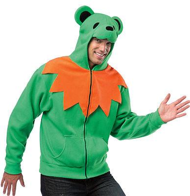 RASTA IMPOSTA HA HA HOODIE UNISEX GRATEFUL DEAD GREEN DANCING BEAR ADULT - Dancing Bear Costume
