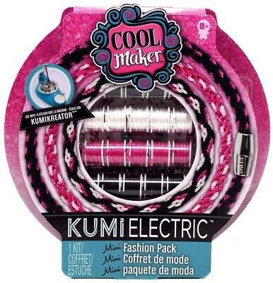 Friendship Bracelets Kit Cool Maker KumiElectric Mini Pack Black Pink White ](Friendship Bracelet Maker)