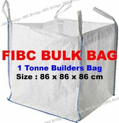 3 Pack One Tonne Ton FIBC Dumpy Jumbo Bags Builders Garden Rubble Aggregate Sack