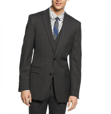 BAR III $425 NEW Mens 2560 Wool Neat Slim Fit Jacket Blazer 40R