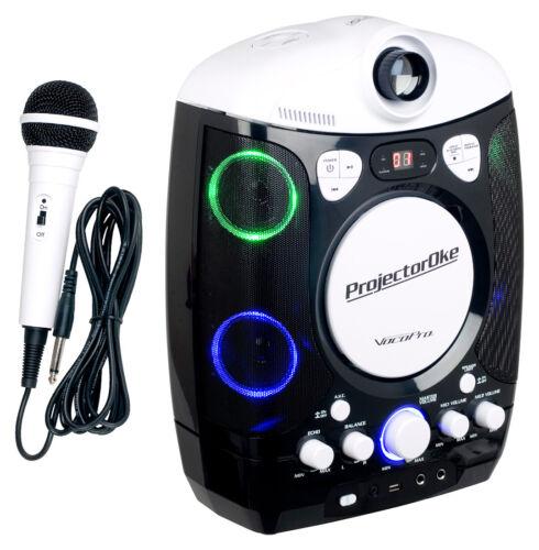 VocoPro ProjectorOke CDG/Bluetooth Karaoke System with LED Projector