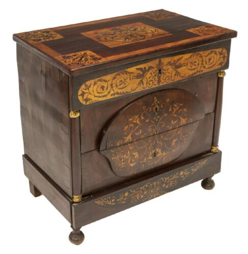 Commode, Continental Marquetry, Four-Drawer, Gorgeous Antique!!!