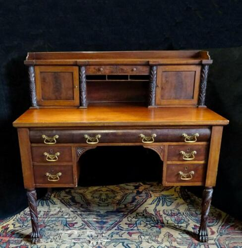 Desk, Empire Style Mahogany Desk, Great for the Office, Handsome Antique!!