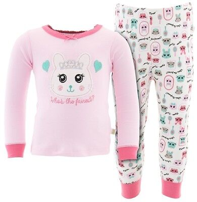 Duck Duck Goose Light Pink Who is the Fairest Cotton Pajamas for Toddler Girls