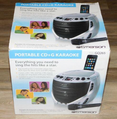New EMERSON PORTABLE KARAOKE PLAYER GQ265 w/MIC &30 Song CD+G Disc FREE SHIPPING