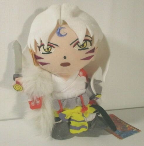 "2005 Inuyasha Sesshomaru 9"" Plush by Rumiko Takahashi with Tag"