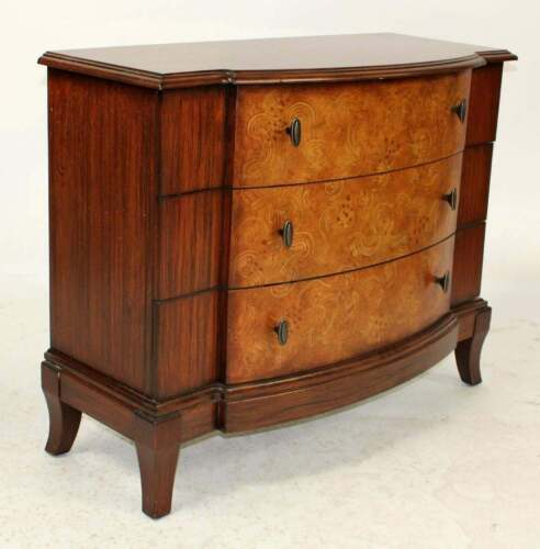 """Three Drawer Bow Front Chest 31"""" H X 38"""" W X 16"""" D"""