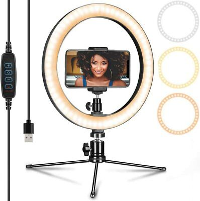 """10"""" LED Ring Light Tripod Stand for Cell Phone Youtube Live Makeup Camera Selfie"""