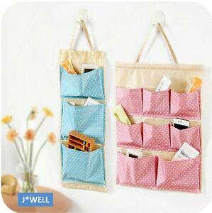 Candy-Home-Polka-Dot-Pockets-Organizer-Container-Wall-Door-Hanging-Storage-Bag