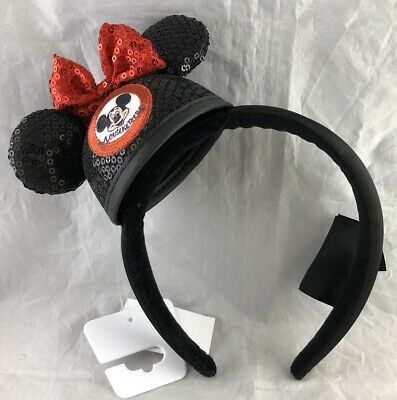Disney Parks Mickey Mouse Club Ears Bow Mini Mouseketeers Headband - NEW