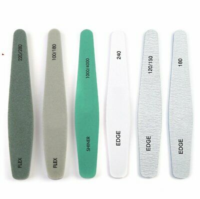 Pro Double Sided Manicure Nail File Emery Boards Buffer Shiner Files Packs of 6 Health & Beauty