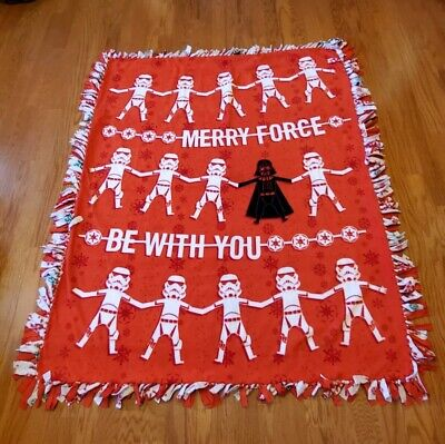 Star Wars Merry The Force Be With You Fleece Tie Blanket