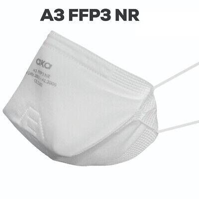 aka® FFP3 Masken 25er Set Atemschutzmaske FFP3 ohne Ventil CE Zertifiziert OP