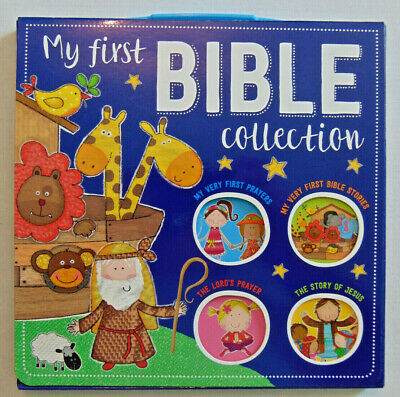 BOX SET My First Bible Collection, 4 Storybooks, Christian Child Prayers & Study Childs First Collection
