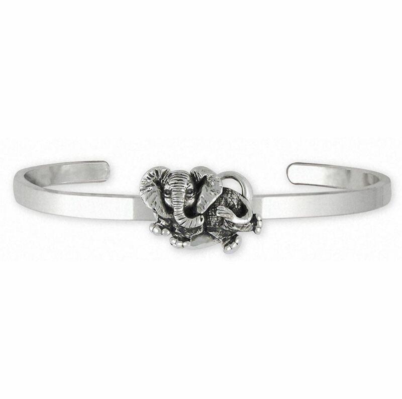Elephant Jewelry Sterling Silver Elephant Bracelet Handmade Wildlife Jewelry EL6