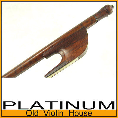 Traditional BAROQUE SNAKEWOOD Viola Bow with a slim bow tip (4/4) [106] on Rummage