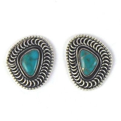 Kingman Turquoise Earrings By Norman Billy