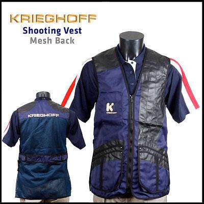 Krieghoff Shooting Vest - Mesh Back - Left Hand (large Cartridge Pockets)