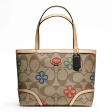 COACH PEYTON SIGNATURE CLOVER TOP HANDLE TOTE
