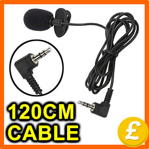 Lapel Clip On Computer Microphone 3.5mm Jack Plug Mic Hands Free Clip-On Tie