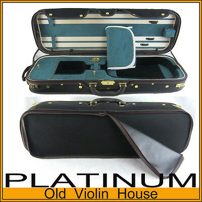 ROYAL Rectangular Violin Case - Black, Sturdy, Canvas. [CAROYA] on Rummage