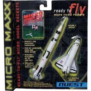 2 fliegende Mini-Modellraketen  Saturn V + Space Shuttle, Neu