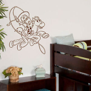 Grande toy story jessie bullseye infantil dormitorio for Adhesivos pared dormitorio