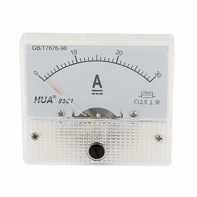 85C1 Analog Current Panel Meter DC 30A AMP Ammeter (Analog Amp Panel Meter)