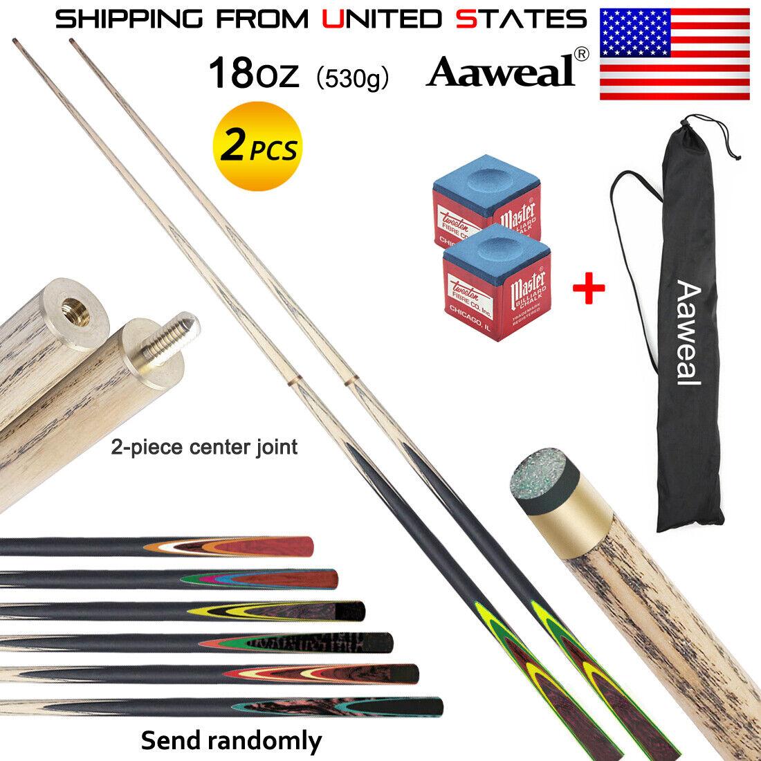 "57"" Length 18oz Hardwood Billiard Stick Pool Cue Tip 9.5mm S"