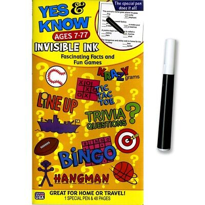 Invisible Ink Books (Yes & Know Invisible Ink Books - Ages 7-77  - Ages)