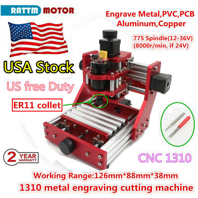 Usa 1310 Diy Cnc Router Metal Cutting Pvc Wood Milling Engraver Laser Machine