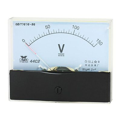 1pcs Analog Panel Voltmeter Volt Meter Dc 0-150v Measuring Range 44c2 New Hot