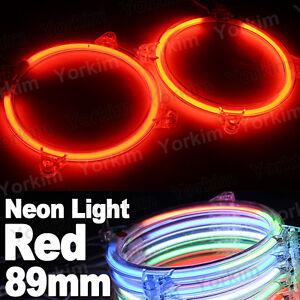 Red Car CCFL Angel Eyes Led Neon Halo Ring Light Headlight Decorative Lamp Kit
