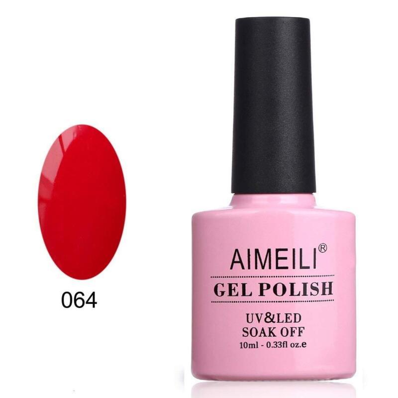 Aimeili Soak Off Uv Led Gel Nail Polish - Pillar Box Red  10