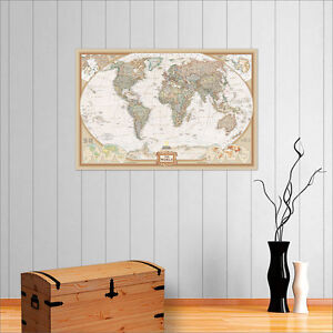 HUGE-VINTAGE-WORLD-MAP-WALL-ART-POSTER