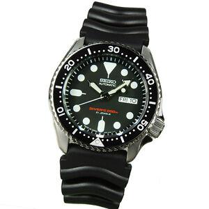 Seiko Mens Scuba Diver JAPAN 7S26 Automatic Sports Watch 200m SKX007J  SKX007J1