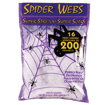 Super Stretch Spider Web Decoration Halloween 200 Square Feet Spooky Prop