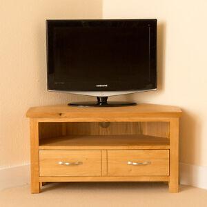 Newlyn-Oak-Corner-TV-Stand-Light-Oak-TV-Unit-Corner-TV-Cabinet-Brand-New