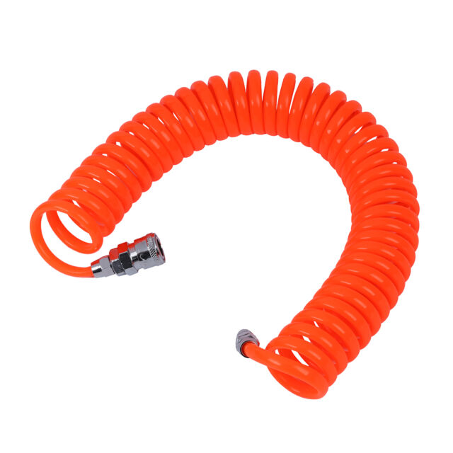 6M 19.7Ft 8mm x 5mm Flexible PU Recoil Hose Tube For Compressor Air Tool SP