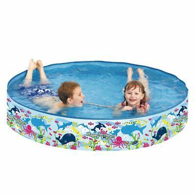 Planschbecken Happy Sea Pool ø120x25 Kinderpool Schwimmbecken mit festen Wänden